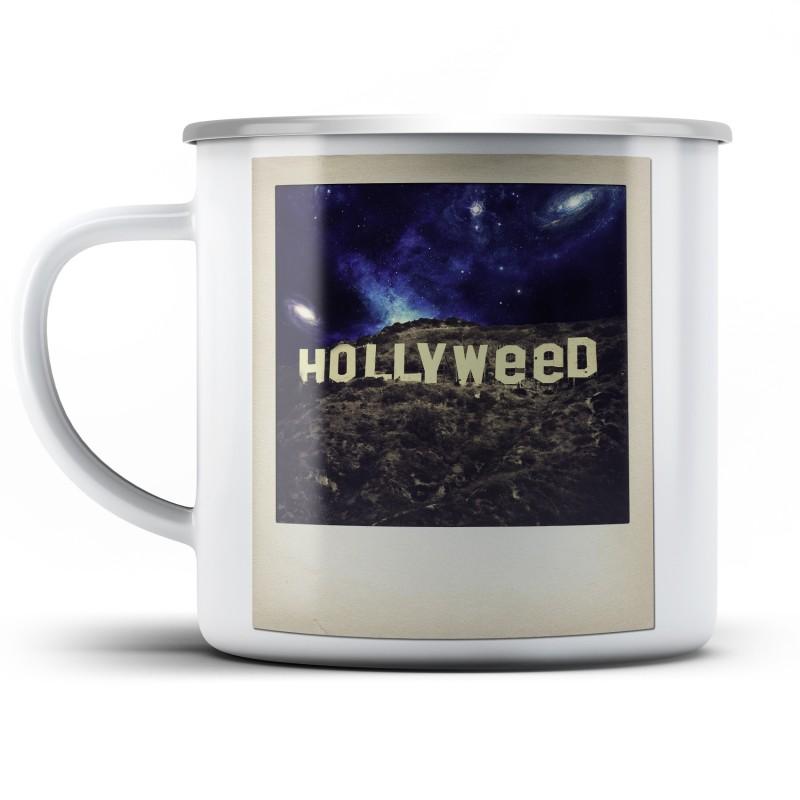 Plechový hrnek Hollyweed