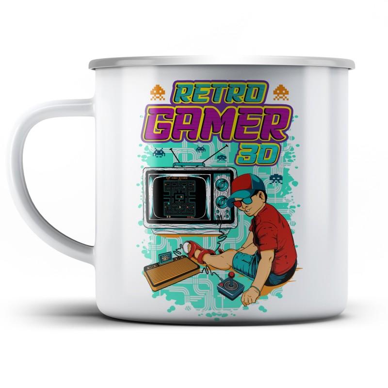 Plechový hrnek Retro gamer