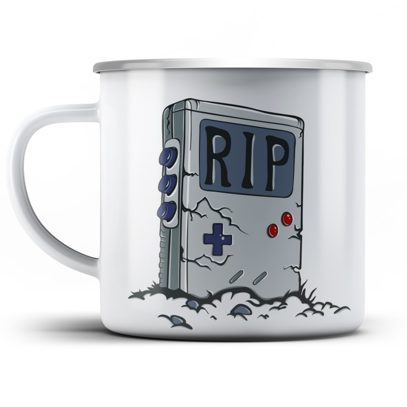 Plechový hrnek RIP Gameboy